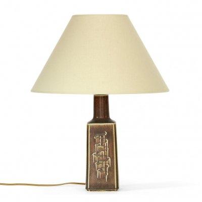 Stoneware table lamp from Désirée ceramics, Denmark 1960s