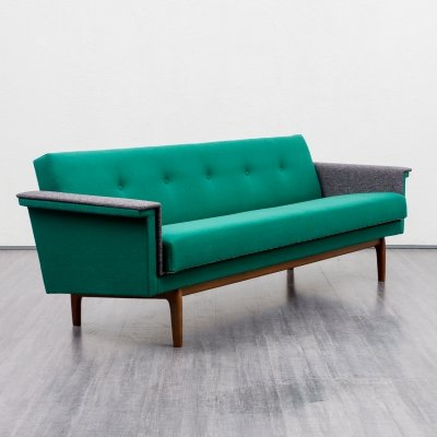 1960s sofa / fold-out guest bed in two colours