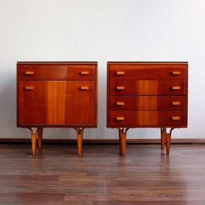 Pair of bedside tables by Nový Domov, 1980s