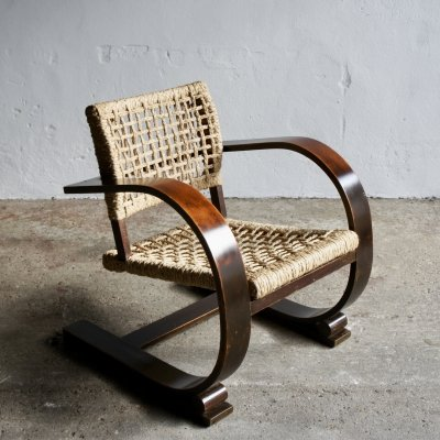 Rope Armchair by Adrien Audoux And Frida Minet, 1940's