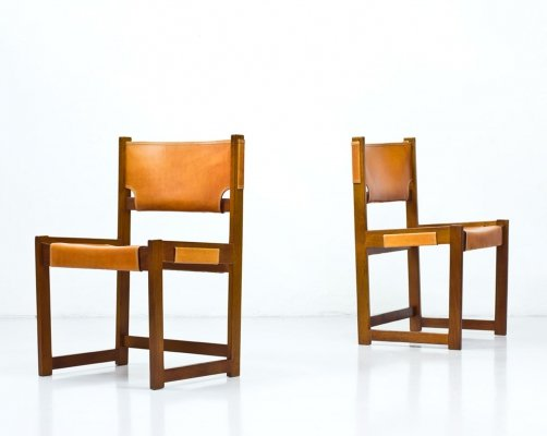 Pair of Swedish Dining Chairs by Sven Kai Larsen for Nordiska Kompaniet, 1960s
