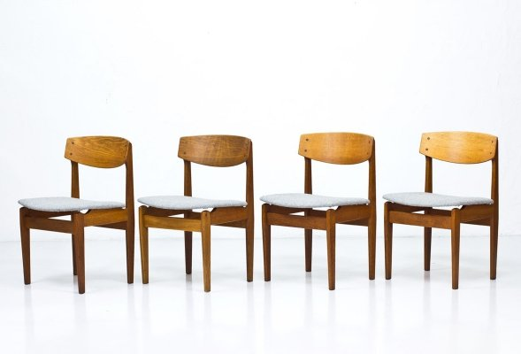 Set of 4 Dining Chairs by Jørgen Baekmark for FDB Møbler