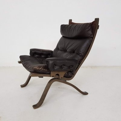 Leather lounge chair, Norway 1960s
