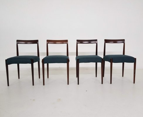 Set of 4 rosewood dining chairs by Lubke, Germany 1960's