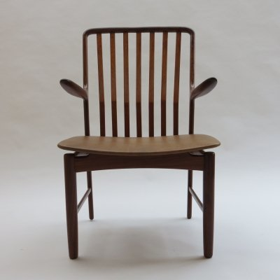 Midcentury Teak & Afrormosia Danish Chair by Svend Madsen, 1960s