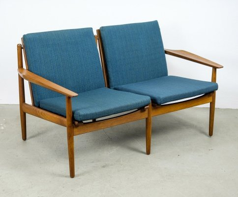 2 Seater Teak Sofa by Arne Vodder for Glostrup, 1960s