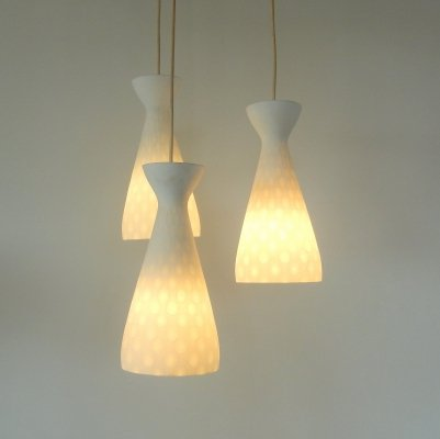 Set of three Ibiza pendant lamps by Aloys Gangkofner for Peill & Putzler