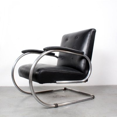 Early Vilvoure lounge chair by Tubax, 1940s