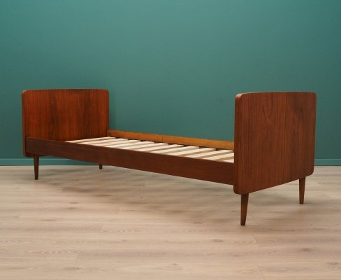 Bed frame in teak by SINO Denmark, 1970s