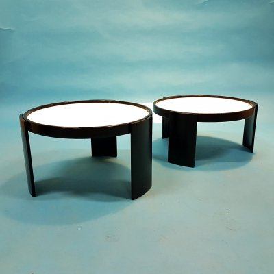 Set of 2 nesting tables by Gianfranco Frattini for Cassina, Italy 1960s
