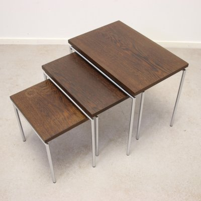 3 piece mimi set with wenge wood, 1960s
