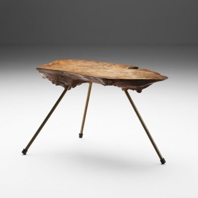 Carl Auböck 'Tree Trunk' Coffee Table in Walnut, Austria ca 1955