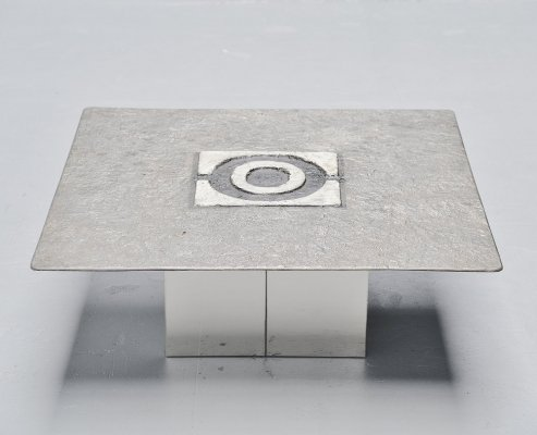Willy Ceysens brutalist coffee table, Neerpelt Belgium 1970