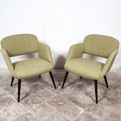 Pair of Vintage Arm Chairs by Miroslav Navratil