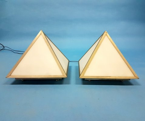 Set of 2 Pyramid table lamps, 1960s