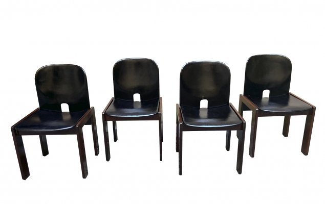 Set of 4 Model 121 Dining Chairs by Afra & Tobia Scarpa for Cassina, 1965