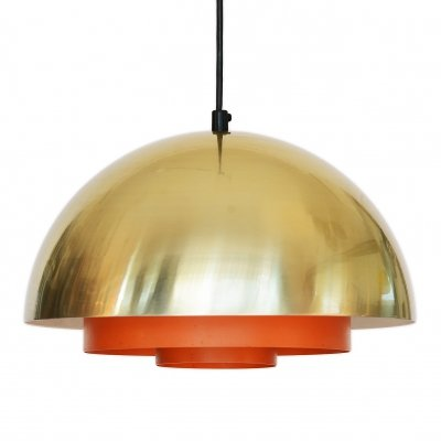 Pendant light 'Milieu' by Jo Hammerborg for Lyfa, Denmark 1970s