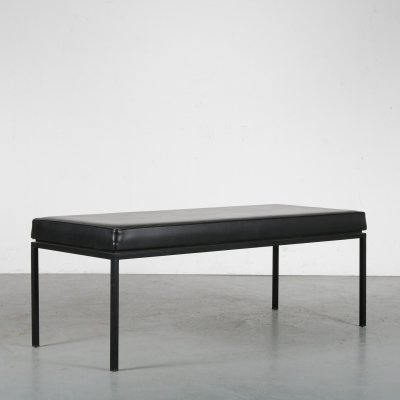 1950s Small waiting room bench by A.P. Polak