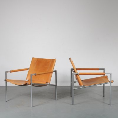 Rare Dutch lounge chairs by Martin Visser for Spectrum, 1960s