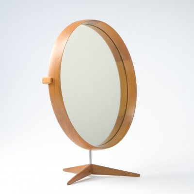 Walnut Table Mirror by Uno & Osten Kristiansson for Luxus