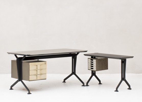 Arco office desks by Studio BBPR for Olivetti, Italy 1960's