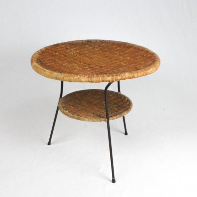 Italian 60s rattan coffee table