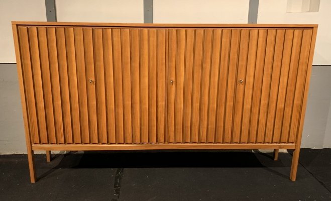 Teak high sideboard dressoir by Leo Bub for Bub Wertmöbel, 1970s