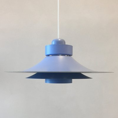 Light blue Danish hanging lamp by Horn Belysning, 1960s