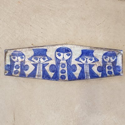 Danish ceramic wall plate by Marianne Stark for Michael Andersen & Son, 1970s