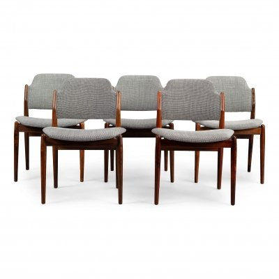 Set of 5 No.62 dining chairs by Arne Vodder for Sibast, 1950s