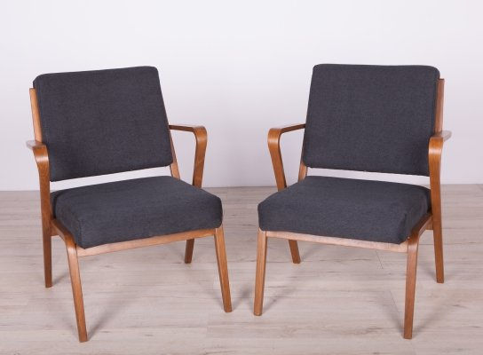 Pair of Armchairs by S. Selmanagic for VEB Deutsche Werkstätten Hellerau, 50s