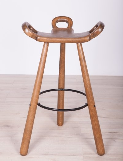 Spanish Brutalist 'Marbella' Barstool by Confonorm, 1970s