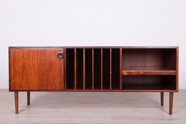 Rosewood Sideboard with Gramophone Shelf, 1980s