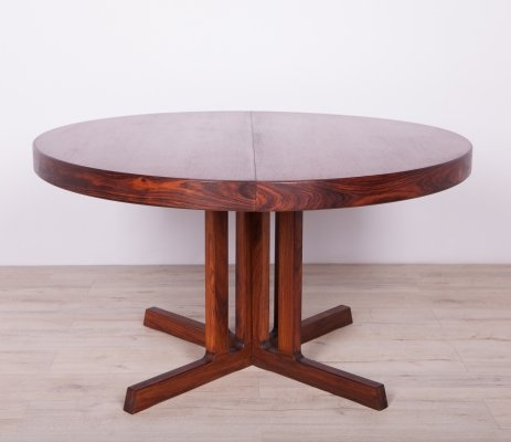 Rosewood Extendable Dining Table, 1960s