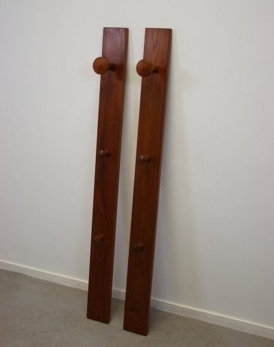 Pair of Danish Wall Coat Racks by Aksel Kjersgaard, 1960s