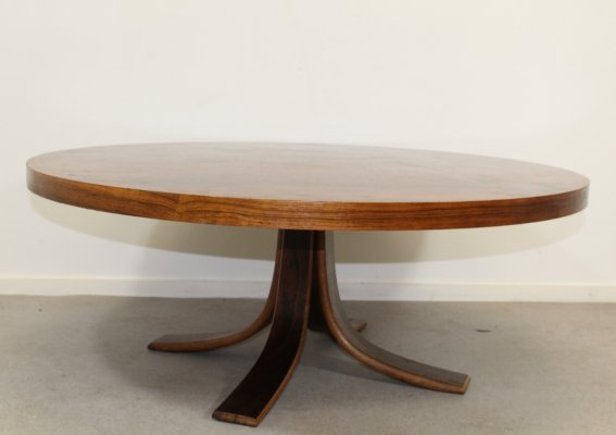 Coffee table with veneered rosewood, 1960s