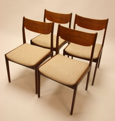 Set of 4 Bjerringbro Møbelfabrik dining chairs, 1960s