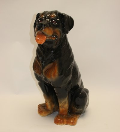 Large Ceramic Rottweiler dog, 1960s
