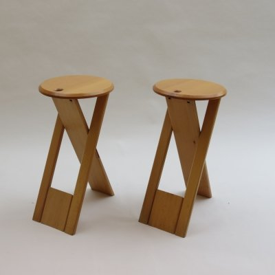 Pair of Vintage Folding Suzy Stools by Adrian Reed for Princes Design Works