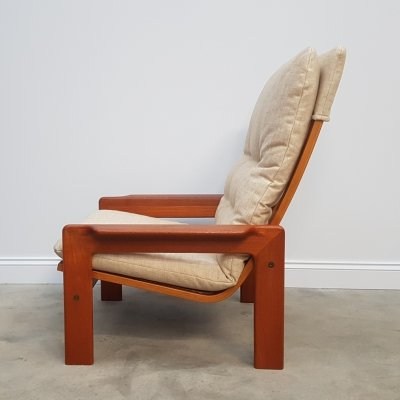 Swedish High Back Lounger by Yngve Ekström, 1970