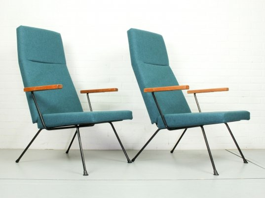 Set of Two A.R. Cordemeyer Lounge Chair Model 1410 by Gispen, 1959
