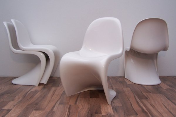 5 x Panton dining chair by Verner Panton for Fehlbaum for Herman Miller, 1970s
