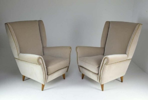 Pair of 20th Century Armchairs by Gio Ponti, 1940s