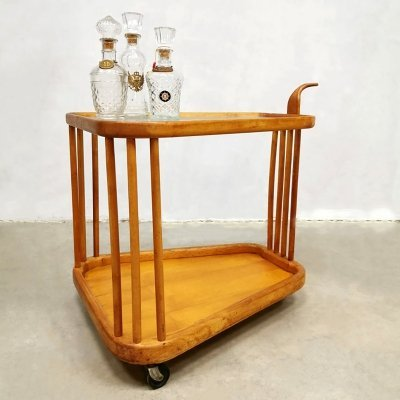 Italian vintage design serving trolley by Cesare Lacca