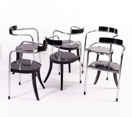 Set of 6 Fauno Chairs by David Palterer for Zanotta, 1987