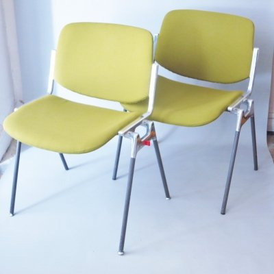 Pair of DSC dining chairs by Giancarlo Piretti for Anonima Castelli, 1960s