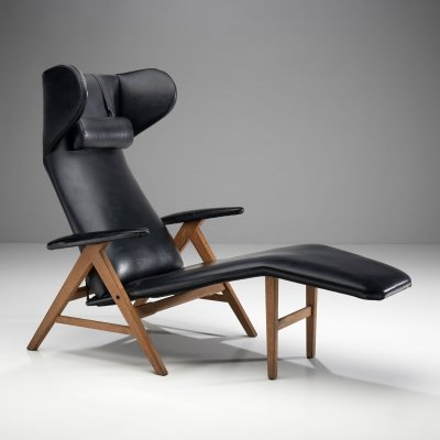Black Lounge Chair by Bramin, Denmark 1960s