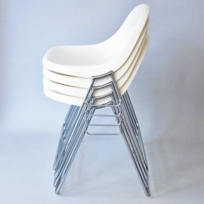 Set of 4 Minisit dining chairs by Marco Zanuso for Elam, 1960s