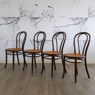 Set of 4 No. 18 Dining Chairs by Gebr. Thonet for Thonet, 1920s