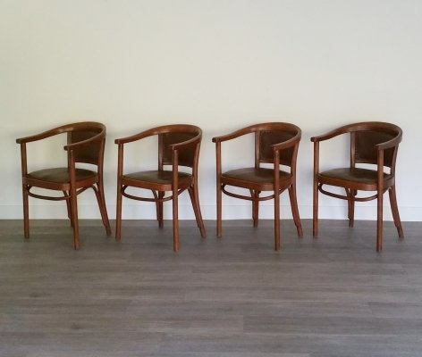 Set of 4 Chairs A 968 F from Thonet, 1930s